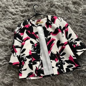 Pink and White Blazer